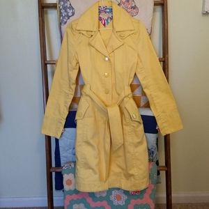 Bright yellow Tommy Trench Coat